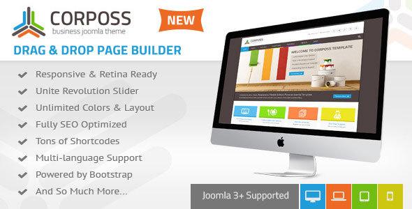 Download Corposs - Responsive Business Joomla Template Hospital Joomla Templates