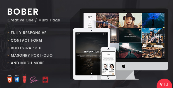 Download BOBER | Creative Responsive Minimalistic HTML Template Fast Html Templates