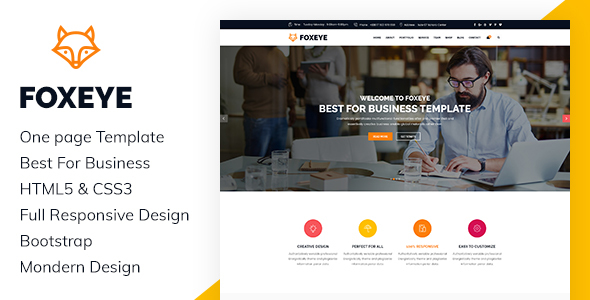 Download FoxEye- Corporate, Business HTML5 Template Amp WordPress Themes