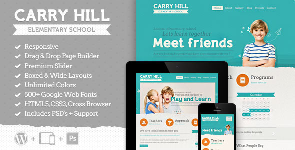 Download Carry Hill School - Responsive Wordpress Theme School WordPress Themes