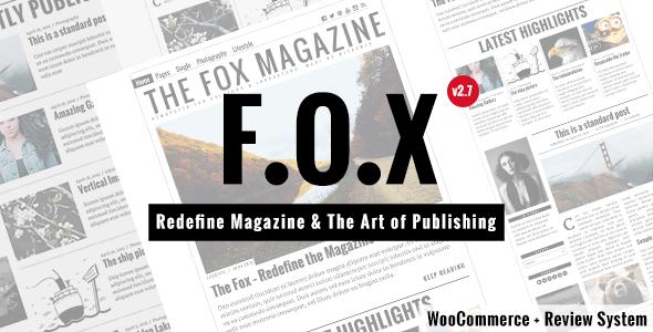 Download The Fox - Modern Magazine WordPress Theme Modern WordPress Themes