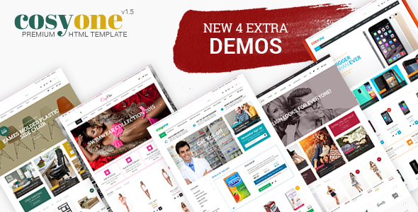Download CosyOne - Furniture, Interior, Drugstore, Lingerie, Electronics, Clothing HTML Template Furniture Html Templates