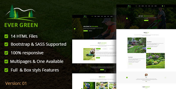 Download Ever Green HTML5 Responsive Template Green Html Templates