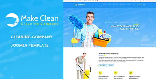 Download Make Clean | Cleaning Company Joomla Template Clean Joomla Templates