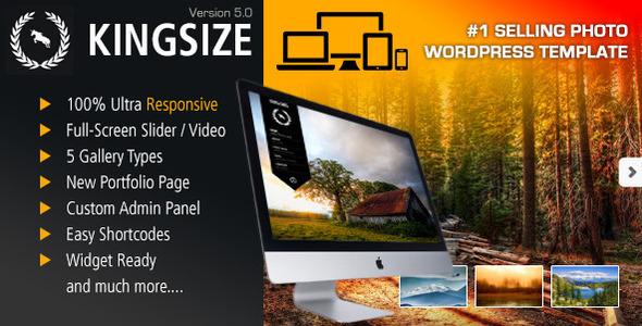 Download KingSize Fullscreen Photography Theme Portfolio Blogger Templates