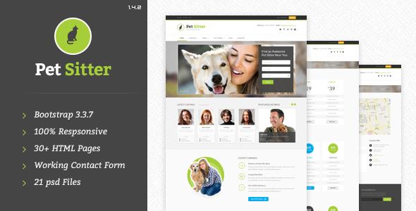 Download Pet Sitter - Job Board HTML Template Job Html Templates