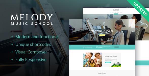 Download Melody - Music School WordPress Theme School WordPress Themes