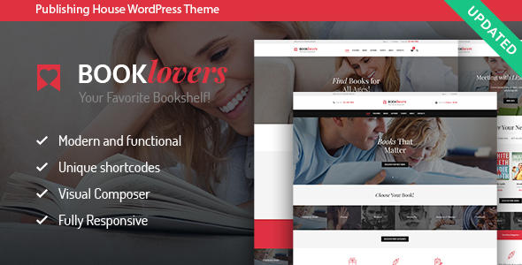 Download Booklovers - Publishing House & Book Store WordPress Theme Store WordPress Themes