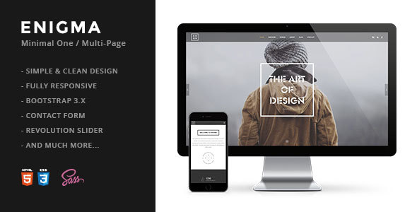 Download Enigma | Creative Responsive Minimal HTML Template Simple Html Templates