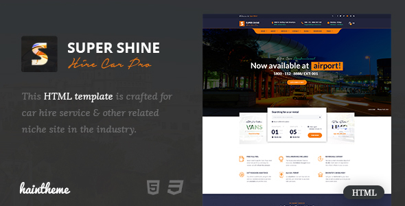 Download Supershine - Car Rental HTML Template Car Html Templates