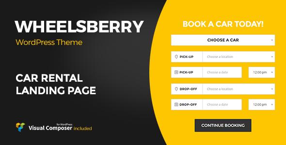 Download Wheelsberry – Car Rental WordPress Theme / Landing Page Car WordPress Themes