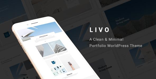Download Livo - A Clean & Minimal Portfolio WordPress Theme WordPress Themes 2017