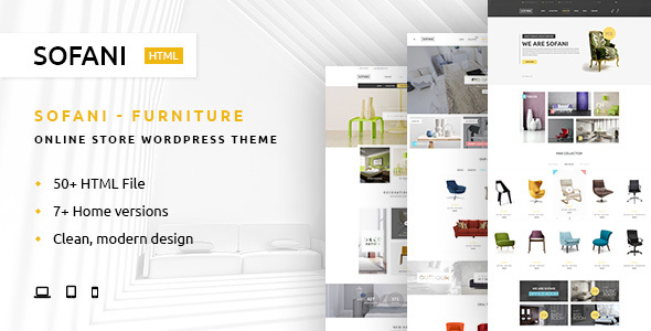 Download Sofani - Furniture Store HTML Template Furniture Html Templates
