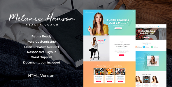 Download Health Coach Blog & Lifestyle Site Template Store Blogger Templates