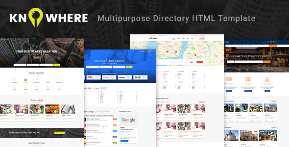 Download Knowhere - Multipurpose Directory HTML Template Directory Html Templates