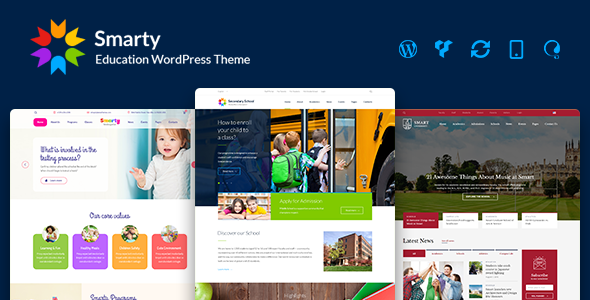 Download Smarty - Kindergarten, School, High school, College, University WordPress theme University WordPress Themes