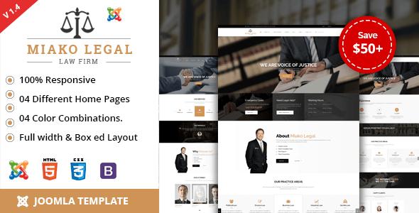 Download Miako Legal   Law Firm Joomla Template Html5 Joomla Templates