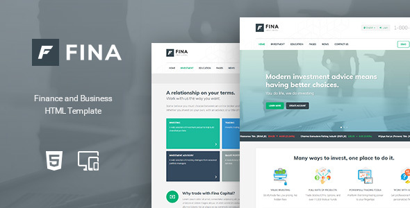 Download Fina - Finance and Business HTML Template Business Html Templates
