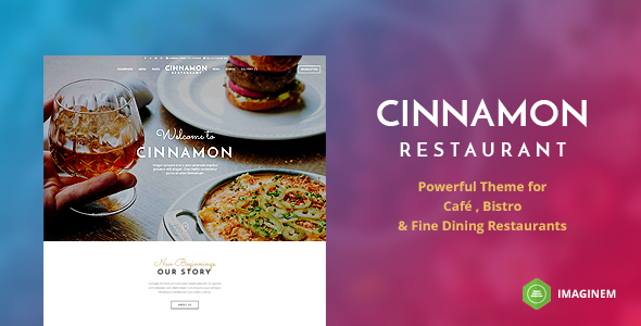 Download Cinnamon Restaurant Theme for WordPress Restaurant Wordrpess Themes