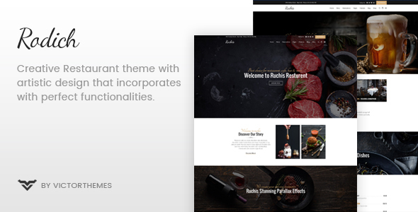 Download Rodich - A Restaurant WordPress Theme Restaurant Wordrpess Themes