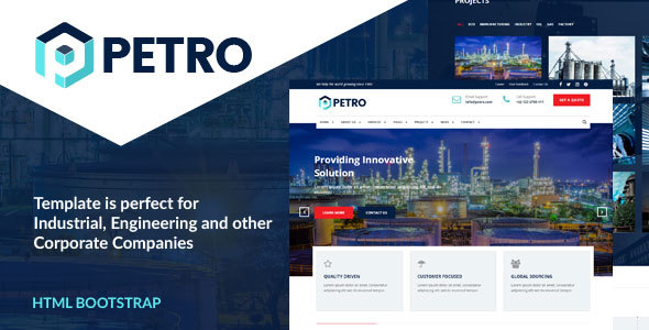 Download Petro - Industrial HTML Template Retro Html Templates