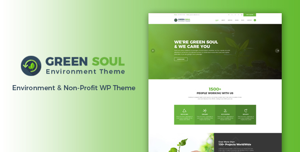 Download Green Soul - Environment & Non-Profit WordPress Theme Green WordPress Themes