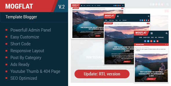 Download Mogtemplates - Mogflat Template For Blogger Youtube Blogger Templates