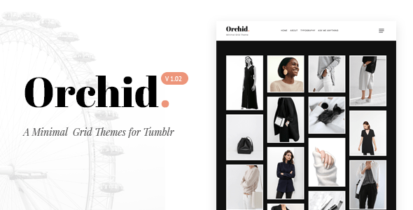 Download Orchid | Minimal Grid Tumblr Theme Simple Tumblr Themes