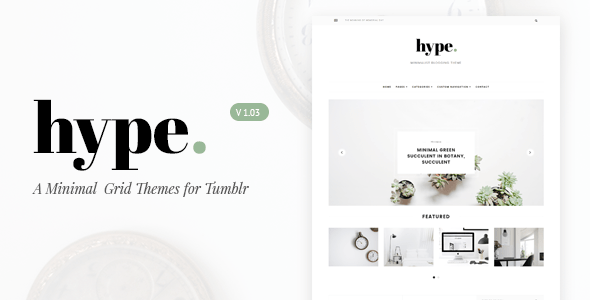 Download Hype | Minimal Grid Tumblr Theme Simple Tumblr Themes
