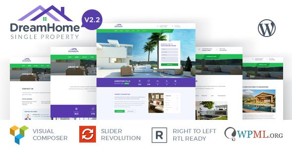 Download DreamHome - Single Property WordPress Theme Property WordPress Themes
