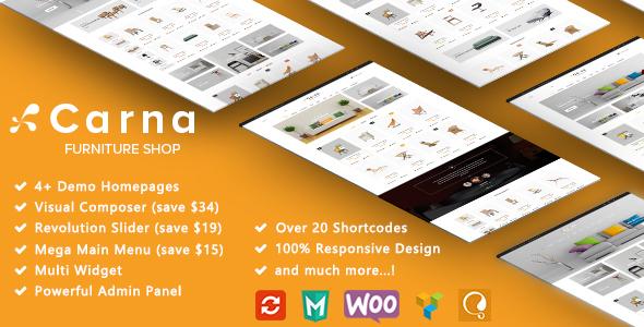 Download Carna - Furniture Responsive WooCommerce WordPress Theme Furniture WordPress Themes