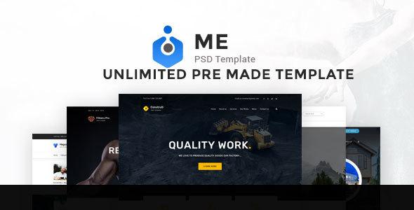 Download ME Multipurpose PSD Template Real Estate Joomla Templates