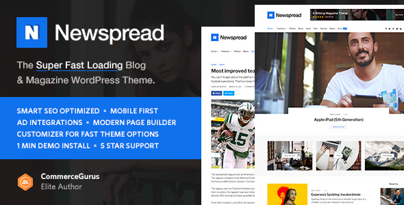 Download Newspread - Magazine, Blog, Newspaper and Review WordPress Theme Newspaper WordPress Themes