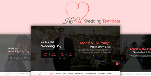 Download I&U Wedding HTML Template. Wedding Html Templates
