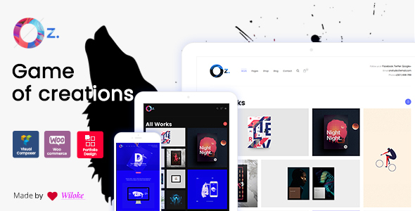 Download OZ - Game of Creations   Creative WordPress Theme Game WordPress Themes