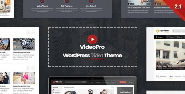 Download VideoPro - Video WordPress Theme Movie WordPress Themes
