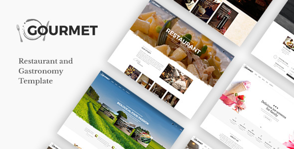 Download Gourmet - Restaurant & Gastronomy Template Retro Html Templates