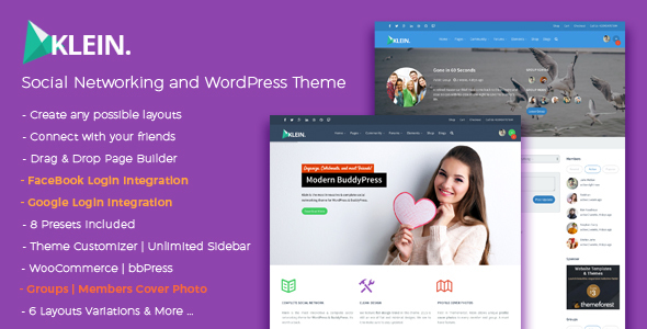 Download Klein - A Nitty-Gritty Community Theme Amp WordPress Themes