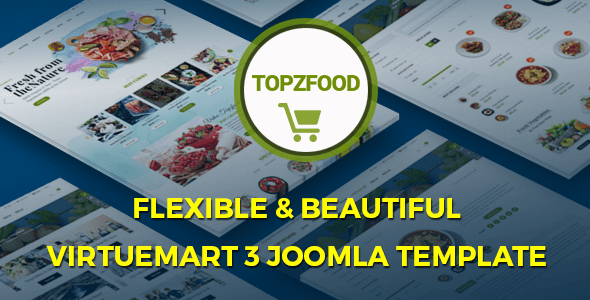 Download TopzFood - Multipurpose VirtueMart eCommerce Joomla Templates Ecommerce Joomla Templates