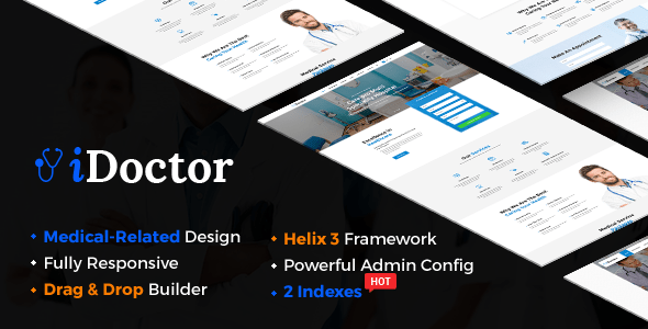 Download iDoctor - Responsive & Multipurpose Medical Joomla Template Hospital Joomla Templates