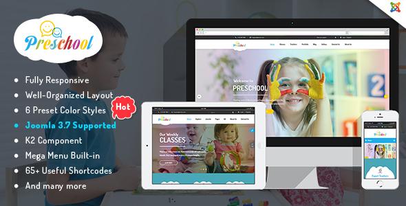 Download Preschool - Children Education Joomla Template for Kindergarten, Child Care Centers Education Joomla Templates