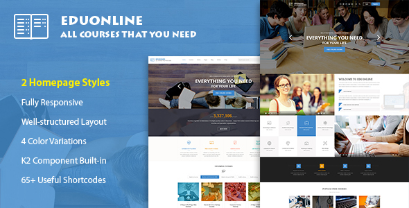 Download Eduonline - Education & University Joomla Template Event Joomla Templates