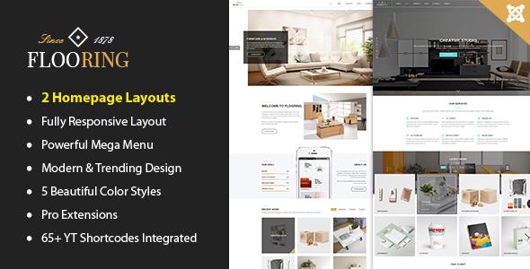 Download Flooring -  An Ideal Responsive Joomla Template For Interior Stores Store Joomla Templates