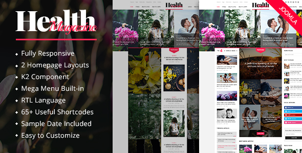 Download HealthMag - Multipurpose News/Magazine Joomla Template Magazine Joomla Templates