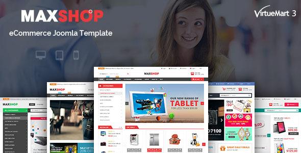 Download Maxshop - Multipurpose eCommerce Joomla Template Ecommerce Joomla Templates