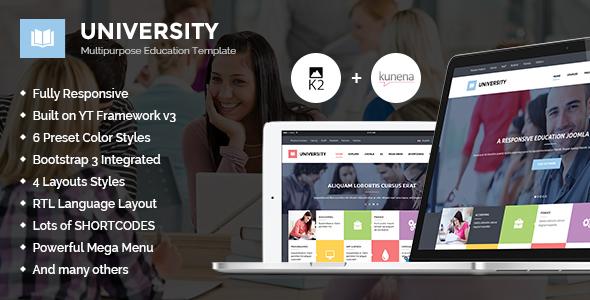 Download University II - Multipurpose Education Template Red Joomla Templates