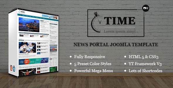 Download SJ Time - Responsive News Portal Joomla Template Portal Joomla Templates