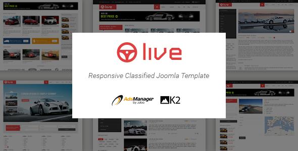 Download SJ Live - Responsive Classified Joomla Template Directory Joomla Templates