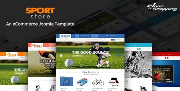 Download SJ Sport Store - Responsive Joomla Template Store Joomla Templates