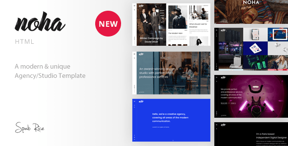 Download Noha - A modern & unique Agency / Studio Template Youtube Html Templates